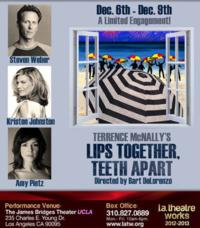 L.A. Theatre Works Records LIPS TOGETHER, TEETH APART, Starring Kristen Johnston and Steven Weber, 12/6-9