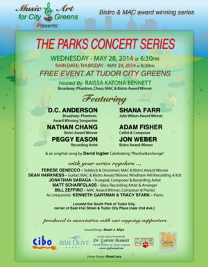 Raissa Katona Bennett To Launch 7th Season of THE PARKS CONCERT SERIES at Tudor City Greens, 5/28