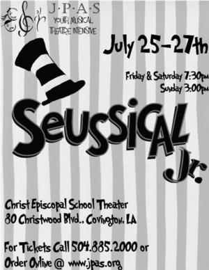 JPAS Northshore Summer Intensive to Present SEUSSICAL JR., 7/25-27