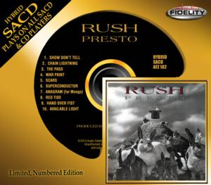 Rush's 'Presto' Album to be Released on Limited Numbered Edition Hybrid SACD
