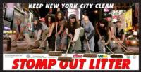 'Stomp Out Litter' PSA Returns to NYC Cabs and Dept. of Sanitation Trucks