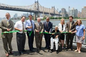 NYC Parks Cuts Ribbon on $6.65 Million Project to Reconstruct Seawall, Create New Waterfront Promenade in Queensbridge Park