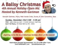 Kenneth Gartman Returns to Don't Tell Mama with A BALLSY CHRISTMAS WITH KENNETH, 12/23