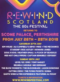 REWIND SCOTLAND – The 80s Festival Announces 2013 Lineup