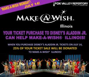 Fox Valley Repertory's Youth Ensemble to Present Disney's ALADDIN JR., 8/1-10; Announces Partnership with Make-A-Wish Illinois