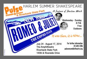 Harlem Summer Shakespeare Celebrates 10th Season with ROMEO AND JULIET, Beginning Tonight
