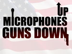 Comedian Gerald Kelly Launches 'Microphones Up, Guns Down' Conflict Resolution Campaign
