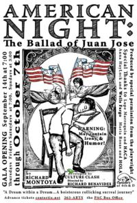 Cyrano's Theatre Company Presents AMERICAN NIGHT: THE BALLAD OF JUAN JOSE Tonight, 9/14