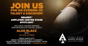 Aloe Blacc & Allen Stone to Perform at Grammy U Amplifier Center Stage