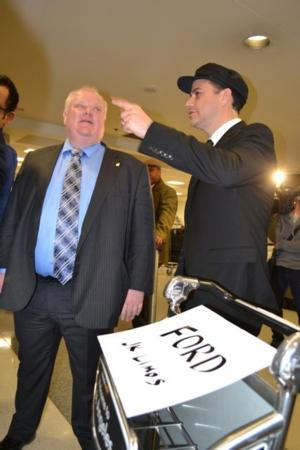 Toronto Mayor Rob Ford to Guest on Jimmy Kimmel on Monday