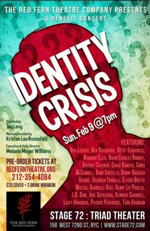 Red Fern Theatre Company to Present IDENTITY CRISIS Benefit Concert at Stage 72, 2/9