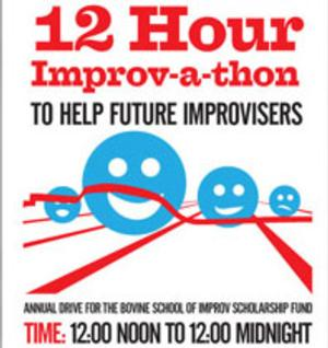 12 Hour Improv-a-Thon Set for Bovine Metropolis Theater Today
