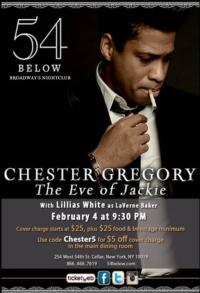 Chester Gregory to Reprise THE EVE OF JACKIE at 54 Below, 2/4