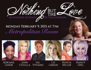 Jenn Colella, Adriane Lenox & More Set for NOTHING BUT LOVE at Metropolitan Room, 2/9
