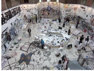 Visitors Paint Gallery in Collective Participatory Artwork for Pawe? Althamer Exhibition at New Museum Today