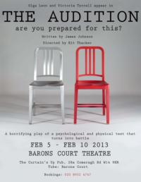 James Johnson's THE AUDITION to Open at Barons Court Theatre, Feb 5