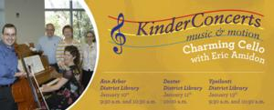 The Ann Arbor Symphony Orchestra, Ann Arbor, Ypsilanti and Dexter District Libraries to Co-Host CHARMING CELLO KINDERCONCERTS, 1/10-13