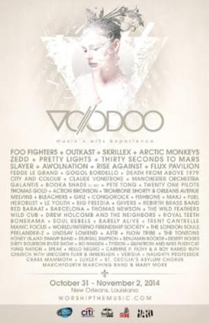 Foo Fighters, Outkast, Skrillex and Arctic Monkeys to Headline VOODOO MUSIC + ARTS EXPERIENCE, 10/31-11/2