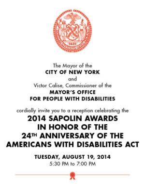 Theater Breaking Through Barriers to Receive 2014 ADA Sapolin Award