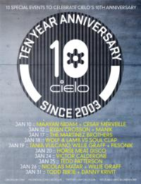 Cielo Celebrates 10-Year Anniversary with 10 Special Events, Jan 2013