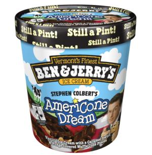 Ben & Jerry's Celebrates STEPHEN COLBERT's AmeriCone Dream Flavor Anniversary