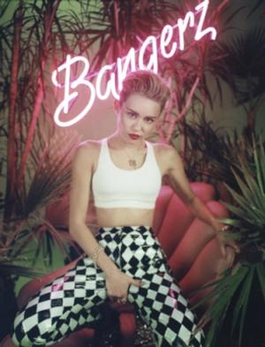 VIDEO: Miley Cyrus Reveals BANGERZ Cover Art; New Single 'Wrecking Ball'