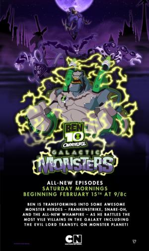 BEN 10 OMNIVERSE!, Galactive Monsters Premieres on Cartoon Network, 2/15