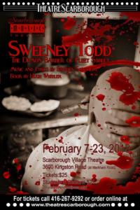 SWEENEY TODD Set for Scarborough Music Theatre, Now thru 2/23