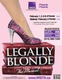 WISTA Provides Opportunities for Young Artists with LEGALLY BLONDE, Feb 1-9