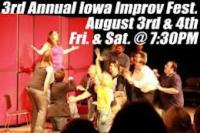 August Theater Sizzles with Iowa Improv Fest and RENT