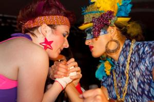 League of Lady Arm Wrestlers Return for CLLAW XVIII Match at Logan Square Auditorium, 3/8