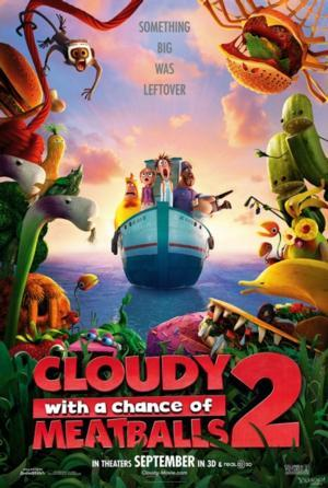CLOUDY WITH A CHANCE OF MEATBALLS 2 Tops DVD & Blu-ray Sales, Week Ending 2/2