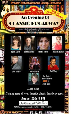 GLEE's Brad Ellis to Host AN EVENING OF CLASSIC BROADWAY at Upstairs at Vitellos, 8/25