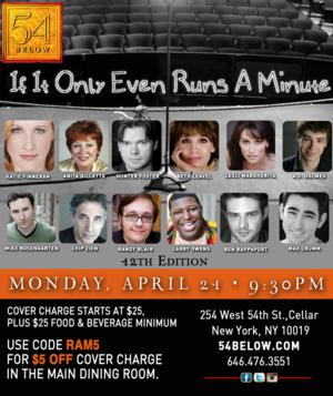 IF IT ONLY EVEN RUNS A MINUTE Comes to 54 Below, Includes Lesli Margherita, Chip Zien, & More