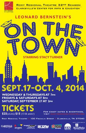 ON THE TOWN Runs 9/17-10/4 at Roxy Regional Theatre
