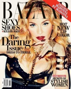 First Look - Madonna Graces Cover of November's Harper's Bazaar