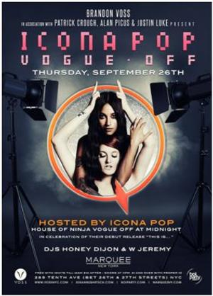 ICONA POP to Host Thursday Party at NY's Marquee, 9/26