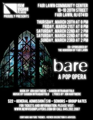 New Vision Players to Present BARE: A POP OPERA, 3/20-23