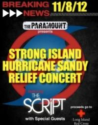 The Script to Headline Hurricane Sandy Relief Concert at the Paramount, 11/8