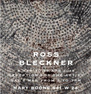 Ross Bleckner Opens Exhibit at Mary Boone Gallery, 3/8