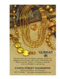 San Francisco's Union Street Goldsmith Announces Gurhan Trunk Show