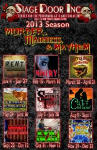 RENT, MISERY, EVIL DEAD, NUNCRACKERS and More Highlight Stage Door Inc.'s 2013 Season