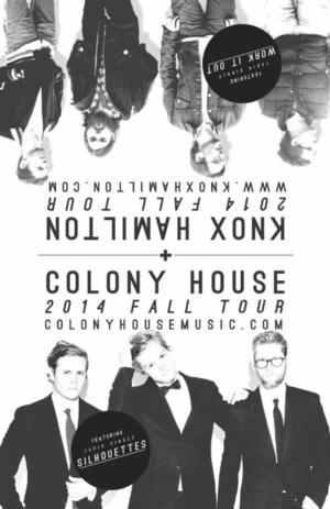 Colony House & Knox Hamilton to Perform at Vera Project, 9/6