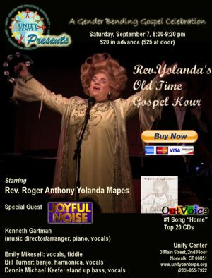 Unity Center to Present Rev. Yolanda's OLD TIME GOSPEL HOUR, 9/7