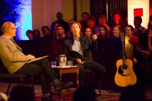 PAUL McCARTNEY Chats with U.S. Poet Laureate BILLY COLLINS at Rollins College