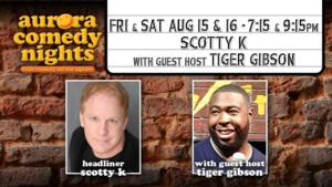 Scotty K to Liven Up Lawrenceville in Aurora Theatre's 'Comedy Nights' Series, 8/15-16