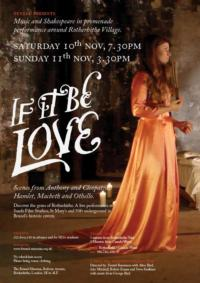 Tunnel Presents IF iT BE LOVE at Brunel Museum, Nov 10 & 11