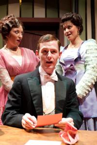 Elena Dern as Raymonde Chandebise , Jaten Lee McGriff as Victor Chandebise, and Olivia Vessel as Lucienne
