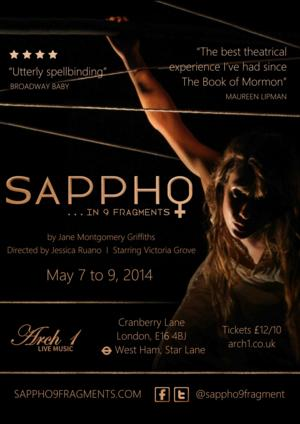 SAPPHO...IN 9 FRAGMENTS Opens Tomorrow at East London's ARCH 1