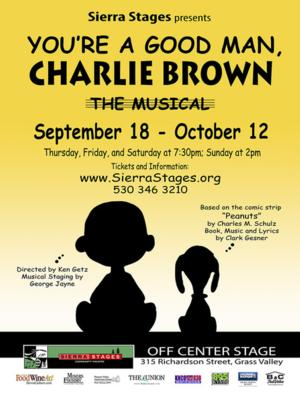 Sierra Stages to Conclude 6th Season with YOU'RE A GOOD MAN, CHARLIE BROWN, 9/18-10/12